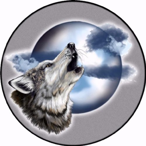 WOLF 4x4 Spare Wheel Cover DECAL STICKER